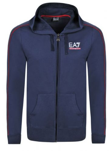 Emporio Armani EA7 Train Core Track Hooded Top Full Zip Navy